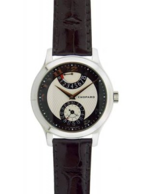 Chopard L.U.C Quattro Mark II 161903-101 White Gold Leather Strap Mens Watch