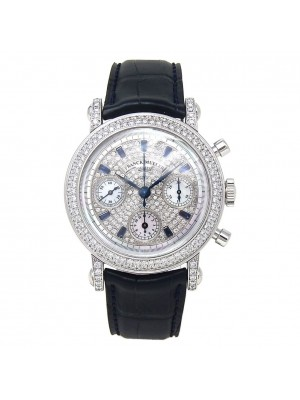 Franck Muller Round Chronograph 18k White Gold Automatic Men's Watch 7000 CC DCD