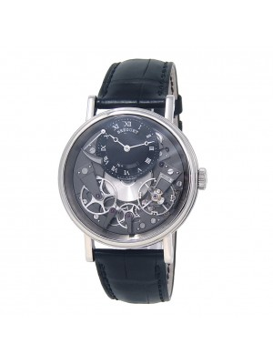 Breguet Tradition 18k White Gold Skeleton Hand Winding Men's Watch 7057