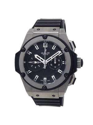 Hublot King Power Foudroyante Zirconium Rubber Black Men's Watch 715.ZX.1127.RX
