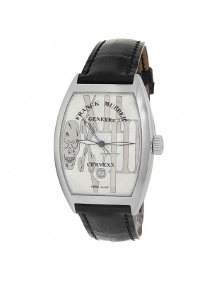Franck Muller Cintree Curvex Stainless Steel Silver Watch 7880 SC DT GOTH REL