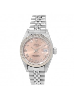 Rolex Datejust Stainless Steel Jubilee Automatic Salmon Ladies Watch 79174