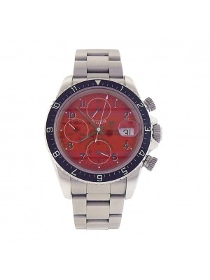 Tudor Prince Date Tiger Stainless Steel Red Dial Automatic Men's Watch 79270P