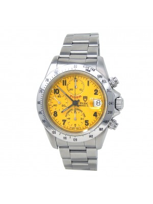 Tudor Tiger Prince Date Stainless Steel Chronograph Yellow Men's Watch 79280