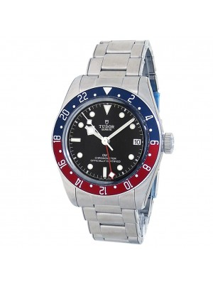 Tudor Black Bay GMT Stainless Steel Automatic Pepsi Black Men's Watch 79830RB