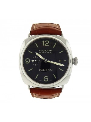 Panerai Radiomir Black Seal PAM00388 Stainless Steel Leather Black Men's Watch