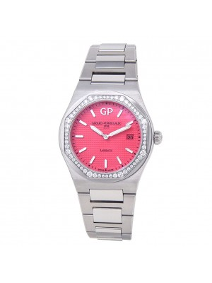 Girard Perregaux Laureato Stainless Steel Pink Ladies Watch 80189D11A182211A