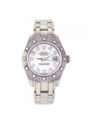 Rolex Masterpiece Oyster Perpetual Pearlmaster 18K White Gold Automatic 80319