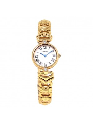 Cartier Vendome 18k Yellow Gold Swiss Quartz Diamond Ladies Watch 8057006