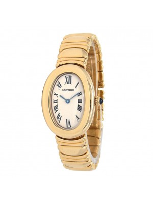 Cartier Baignoire 18k Yellow Gold Quartz Ladies Watch 8057912