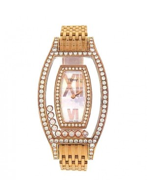 Chopard-Happy-Diamonds-575940-18K-Yellow-Gold-Diamonds-Mother-of-Pearl-Watch