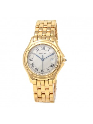 Cartier Cougar 18k Yellow Gold Date Display Swiss Quartz Ladies Watch 887904