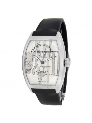 Franck Muller Cintree Curvex Stainless Steel Silver Watch 8880 SC DT GOTH REL