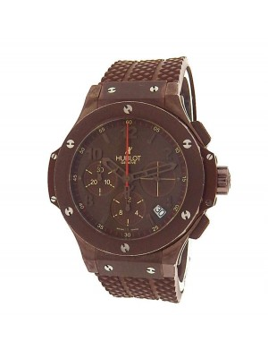 Hublot Big Bang 341.SL.1008.RX PVD Steel Chronograph Automatic Brown Men's Watch
