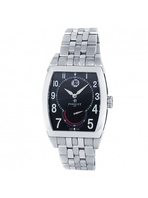 Perrelet Power Reserve Stainless Steel Automatic Black Men's Watch A1017