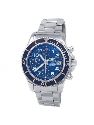 Breitling Superocean Chronograph Stainless Steel Auto Blue Men's Watch A13311