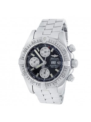 Breitling SuperOcean Stainless Steel Chronograph Auto Black Men's Watch A13340