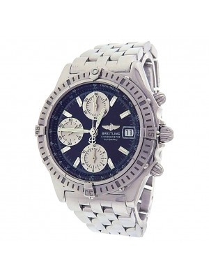 Breitling Chronomat A13352 Stainless Steel Chronograph Automatic Black Men's Watch