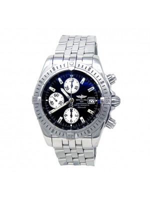 Breitling Chronomat Evolution Chrono Stainless Steel Automatic Mens Watch A13356