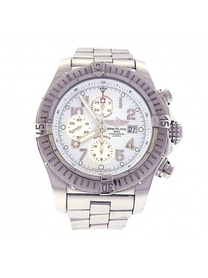Breitling Super Avenger Stainless Steel Automatic Chronograph Men's Watch A13370