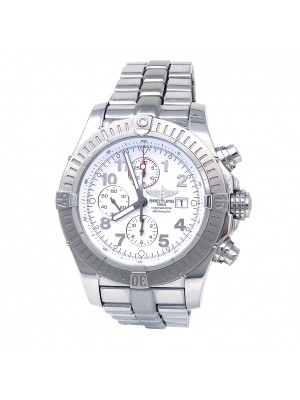 Breitling Super Avenger Stainless Steel Automatic Chronograph Mens Watch A13370