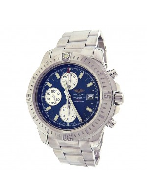 Breitling Colt A13388 Stainless Steel Chronograph Automatic Blue Men's Watch