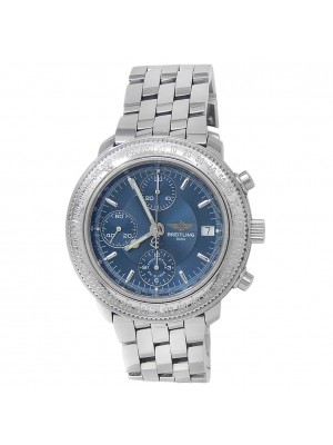 Breitling Astromat Longitude Stainless Steel Automatic Blue Men's Watch A20405