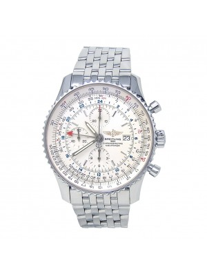 Breitling Navitimer World Stainless Steel Automatic Chrono Men's Watch A24322