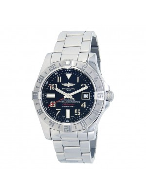 Breitling Avenger II GMT Stainless Steel Automatic Men's Watch A32390