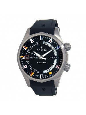 Corum Admiral's Cup Legend Worldtimer Titanium Automatic Men's Watch A637/02744