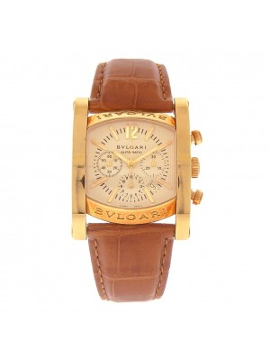 Bvlgari Assioma 18k Yellow Gold Champagne Dial Automatic Men's Watch AA44 G CH