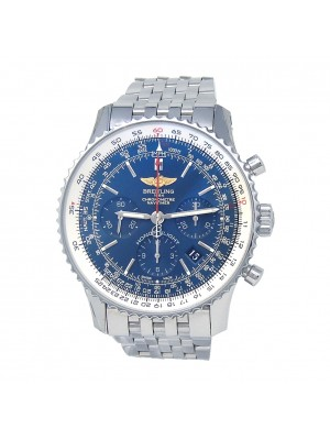 Breitling Navitimer Stainless Steel Blue Dial Automatic Chronograph Watch AB0120