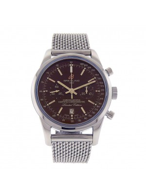 Breitling Transocean 38 Stainless Steel Automatic Chronograph Watch AB01557UQ610