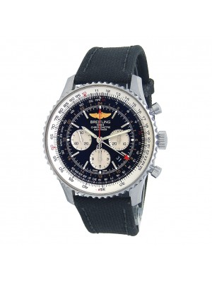 Breitling Navitimer GMT Chronograph Stainless Steel Automatic Men's Watch AB0441