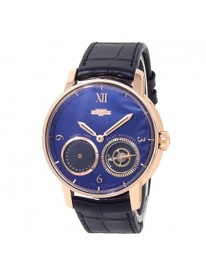 DeWitt Academia Out Of Time 18k Rose Gold Automatic Blue Men's Watch AC.OUT.003