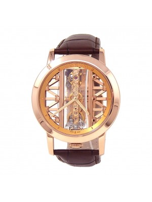 Corum Golden Bridge Round 18k Rose Gold Hand Winding Men's Watch B113/03010