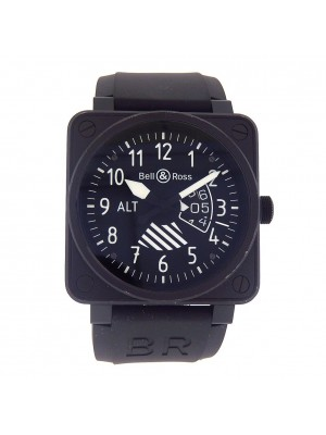 Bell & Ross BR01-96 Altimeter Black Ceramic Automatic Men's Watch BR01-96-SALT