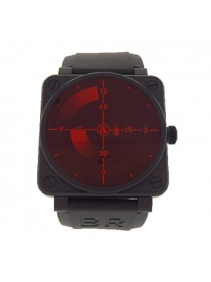 Bell & Ross Red Radar Black PVD Stainless Steel Automatic Men's Watch BR01-92