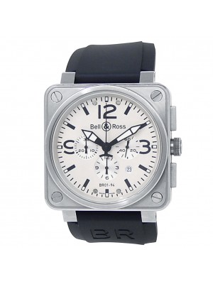 Bell & Ross BR 01-94 Chronograph Stainless Steel White Men's Watch BR 01-94-S