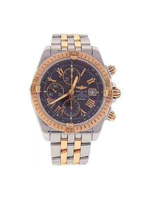 Breitling Chronomat Evolution 18k Rose Gold Stainless Steel  Men's Watch C13356