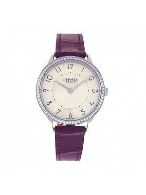 Ladies Stainless Steel Hermes Boutique Style Diamond Dress Watch Model # CA2.230