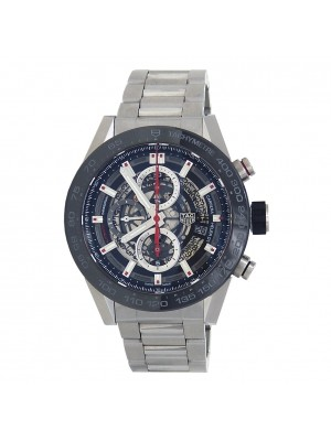 Tag Heuer Carrera  Stainless Steel Skeleton Automatic Men's Watch CAR2A1W.BA0703