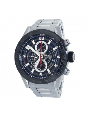 Tag Heuer Carrera Stainless Steel Automatic Skeleton Men's Watch CAR2A1W.BA0703