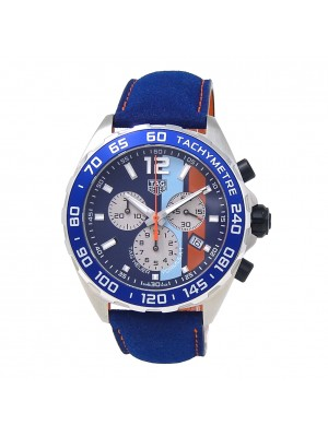 Tag Heuer Formula 1 Gulf Special Edition Stainless Steel Watch CAZ101N.FC8243