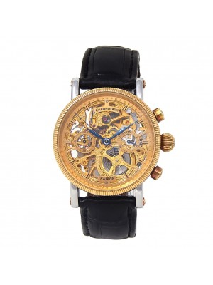 Chronoswiss Kairos 18k Yellow Gold Steel Manual Skeleton Men's Watch CH2321