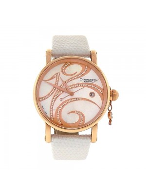 Chronoswiss Swing 18K Rose Gold MOP DIA Dial Automatic Ladies Watch CH 2821LLRSW
