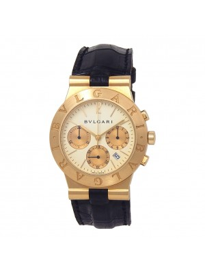 Bvlgari Diagono 18k Yellow Gold Swiss Quartz Chronograph Men's Watch CH 35 G