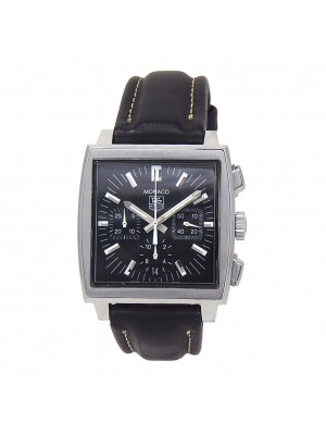 Tag Heuer Monaco Stainless Steel Automatic Chronograph Men's Watch CW2111