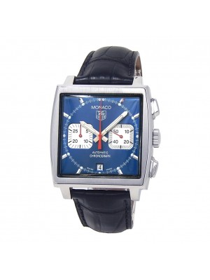 Tag Heuer Monaco Stainless Steel Automatic Chronograph Men's Watch CW2113-0
