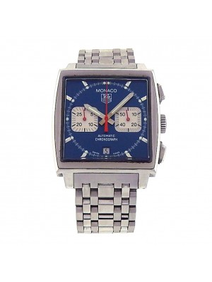 Tag Heuer Monaco Steve McQueen CW2113.BA0780 Steel Chrono Auto Blue Men's Watch